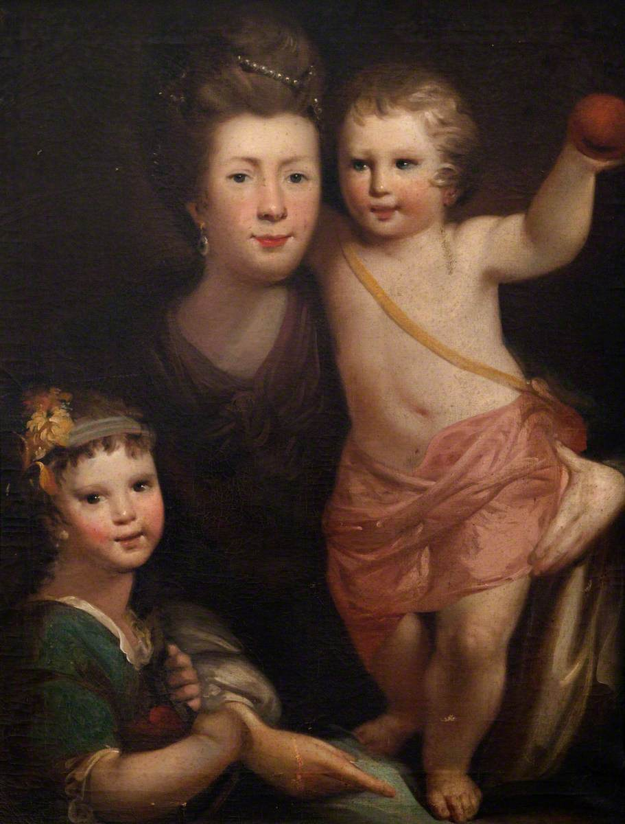 Isobel Cowan, née Laing, with Her Children