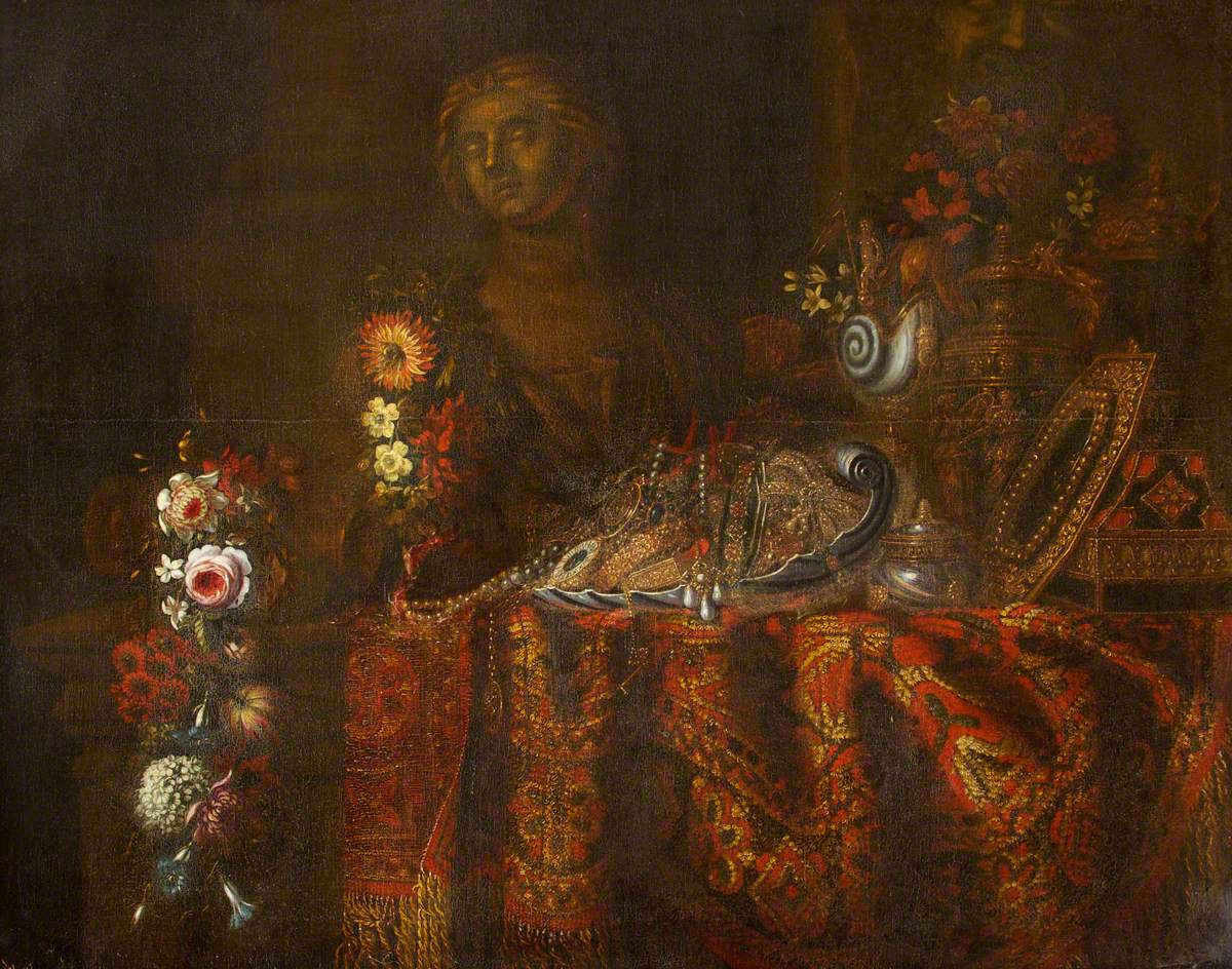 Still Life with a Rich Rug, Salver and Sweetmeats