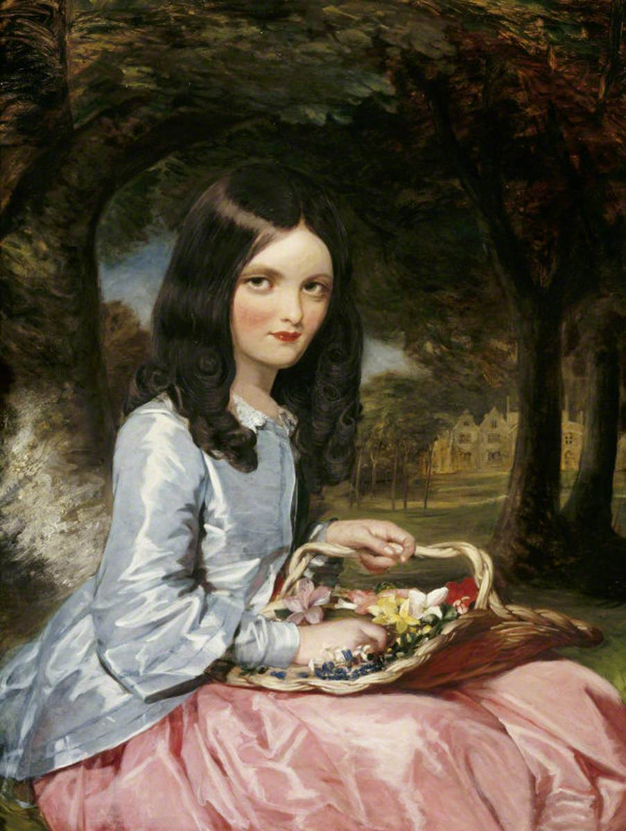 Mrs George Gibbs of Belmont, née Laura Beatrice Elton (1842–1911), as a Young Girl