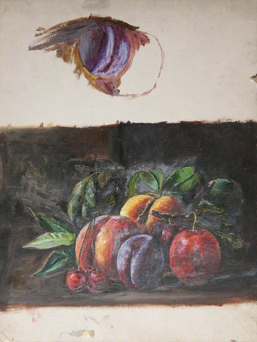 Still Life of Peaches and Plums
