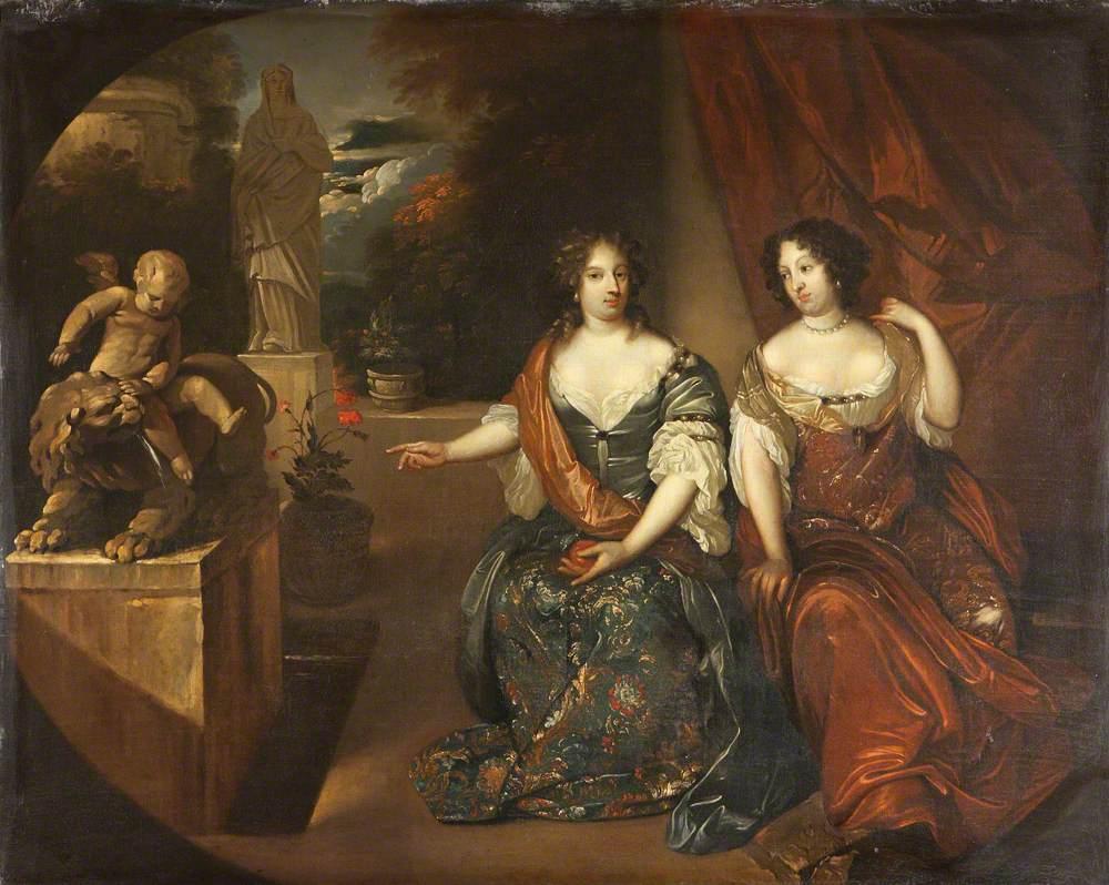 Princesses Albertina Agnes (1634–1696), and Henrietta Catherine (1637–1708), of Orange-Nassau