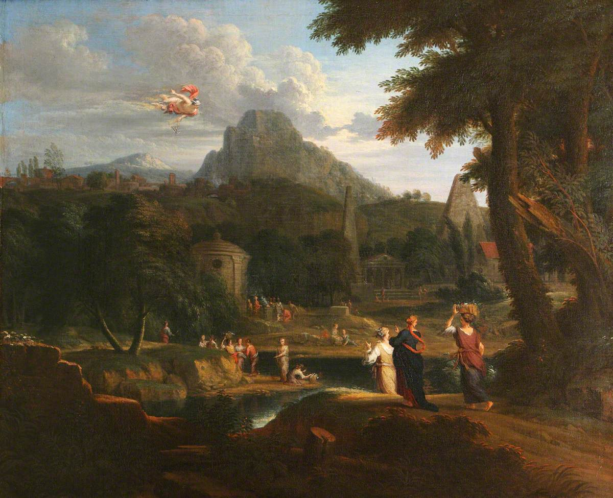 A Classical Landscape with Mercury Spying Herse and Aglauros