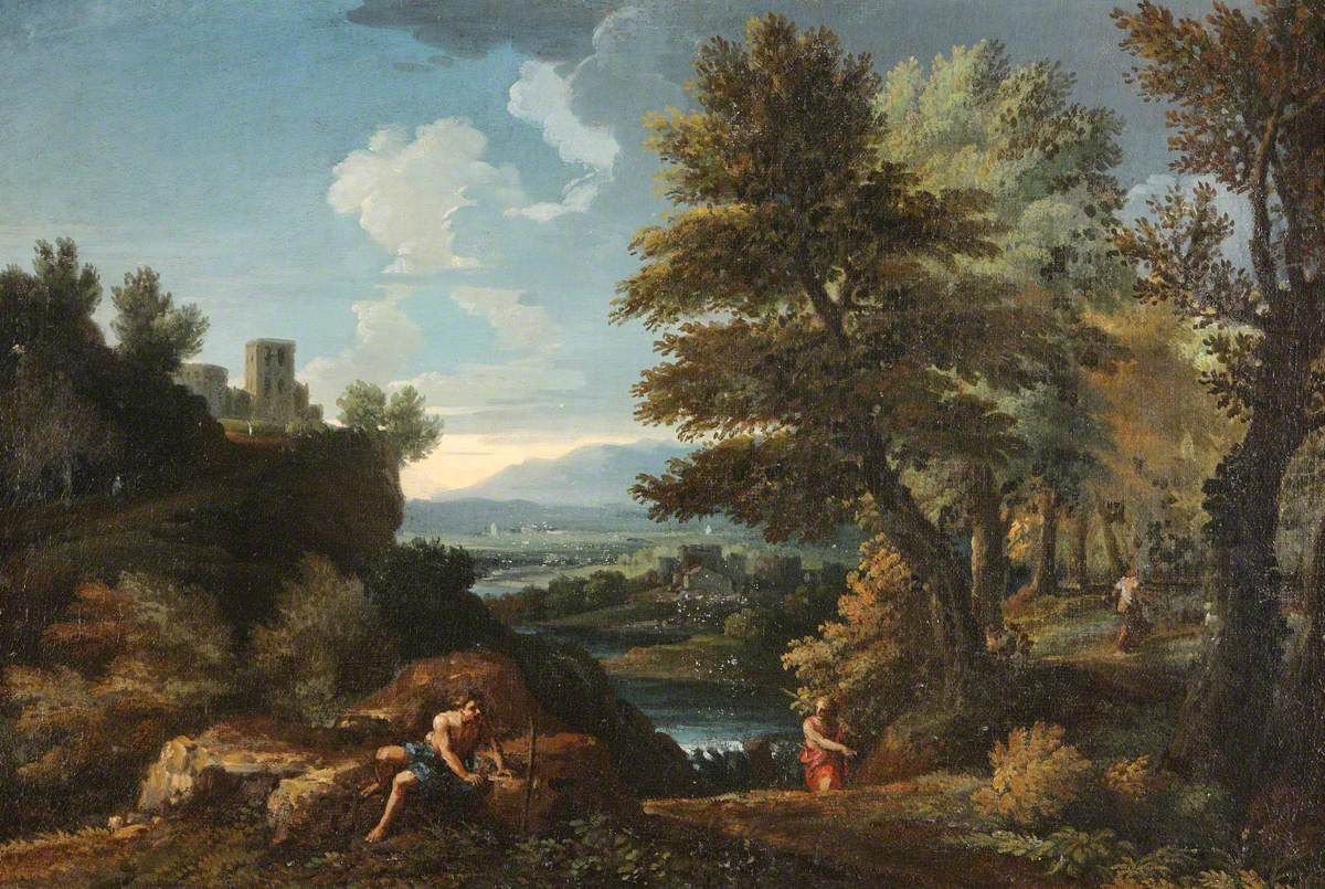 Landscape with Travellers and a Distant River Valley