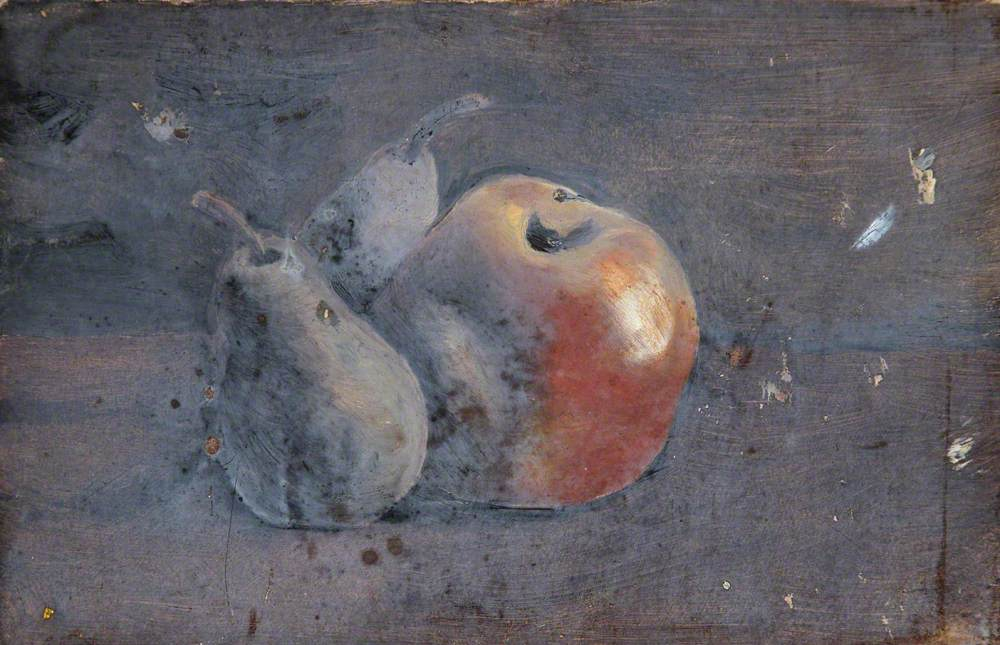Still Life of an Apple and a Pear