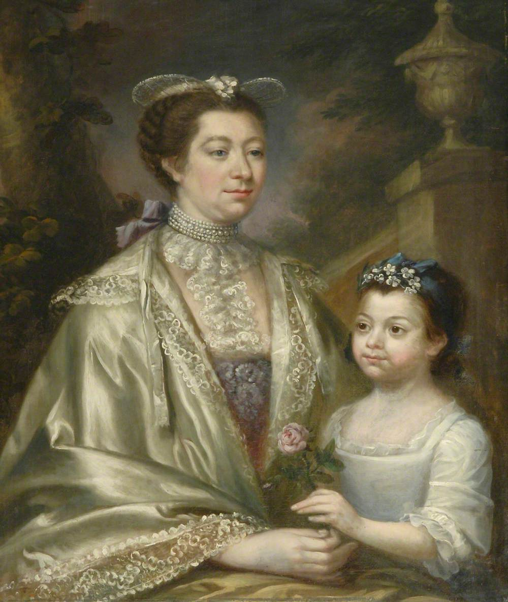 Margaret Wynne (1724–1822), Mrs Henry Bankes II, and Her Daughter Anne Bankes (1759–1778), as a Child