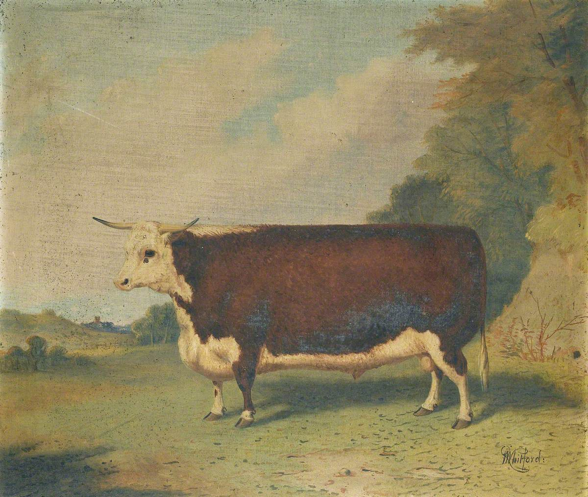 A Prize Cow in a Landscape