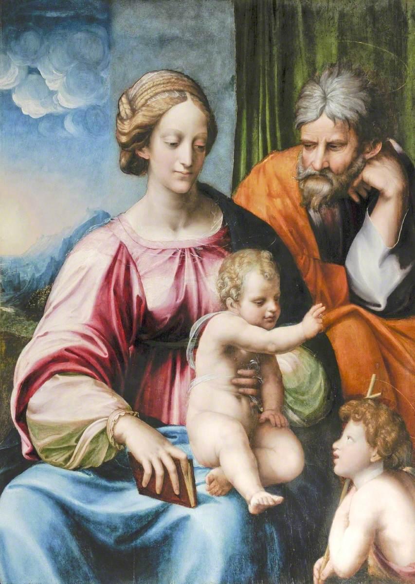 The Holy Family with Saint John the Baptist