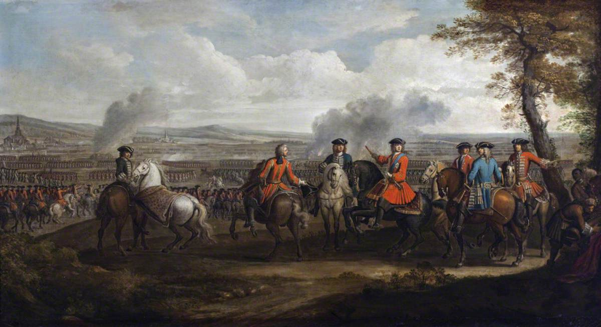 The Duke of Marlborough and His staff, with Troops Drawn Up before the Battle of Blenheim