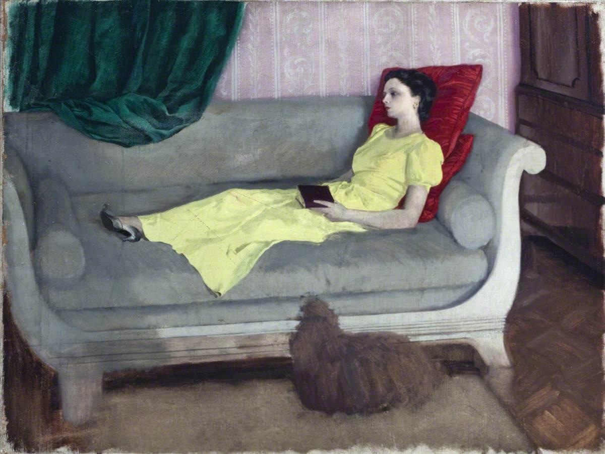 Lady Elizabeth Paget (b.1916), Later von Hofmannsthal, with a Dog