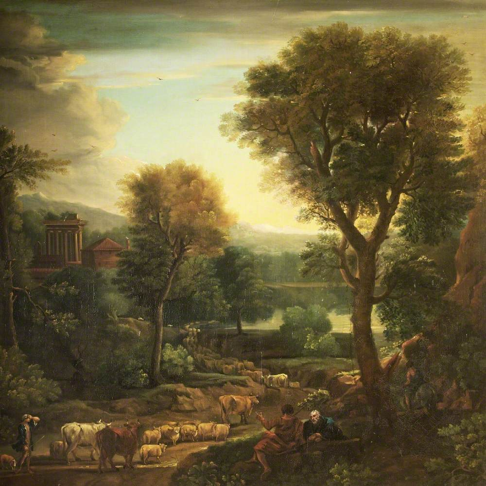 Classical Landscape with a Grecian Temple