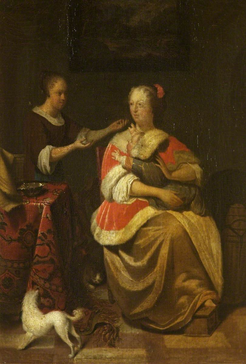 Interior with a Woman, a Child and a Maidservant