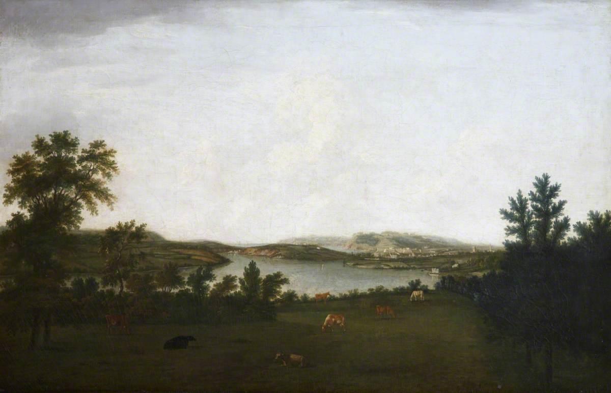 Mount Edgcumbe, and Plymouth Sound, Seen from Saltram, Devon