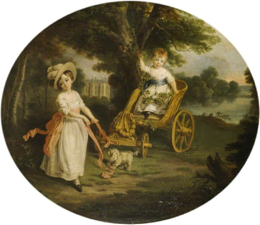 The O'Neill Boys with a Chariot in the Grounds of Shane's Castle (John O'Neill, 1780–1855, 3rd Viscount and Charles O'Neill, 1779–1841, Earl O'Neill)