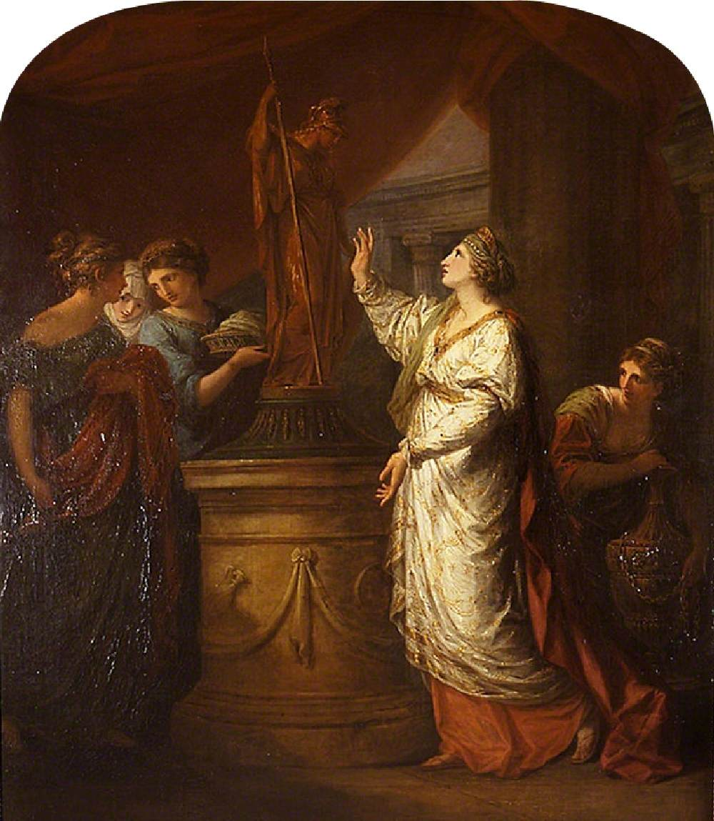 Penelope Sacrificing to Minerva for the Safe Return of Her Son, Telemachus
