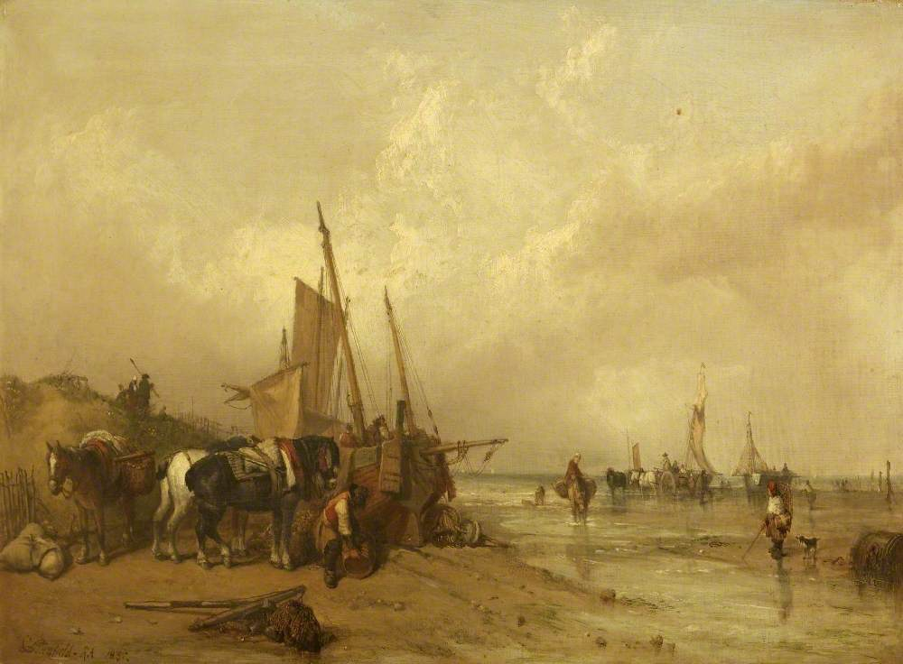 A Coast Scene with Fishing Boats