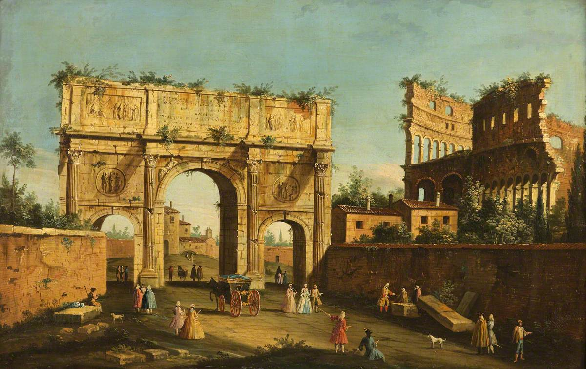 The Colosseum and Arch of Constantine, Rome
