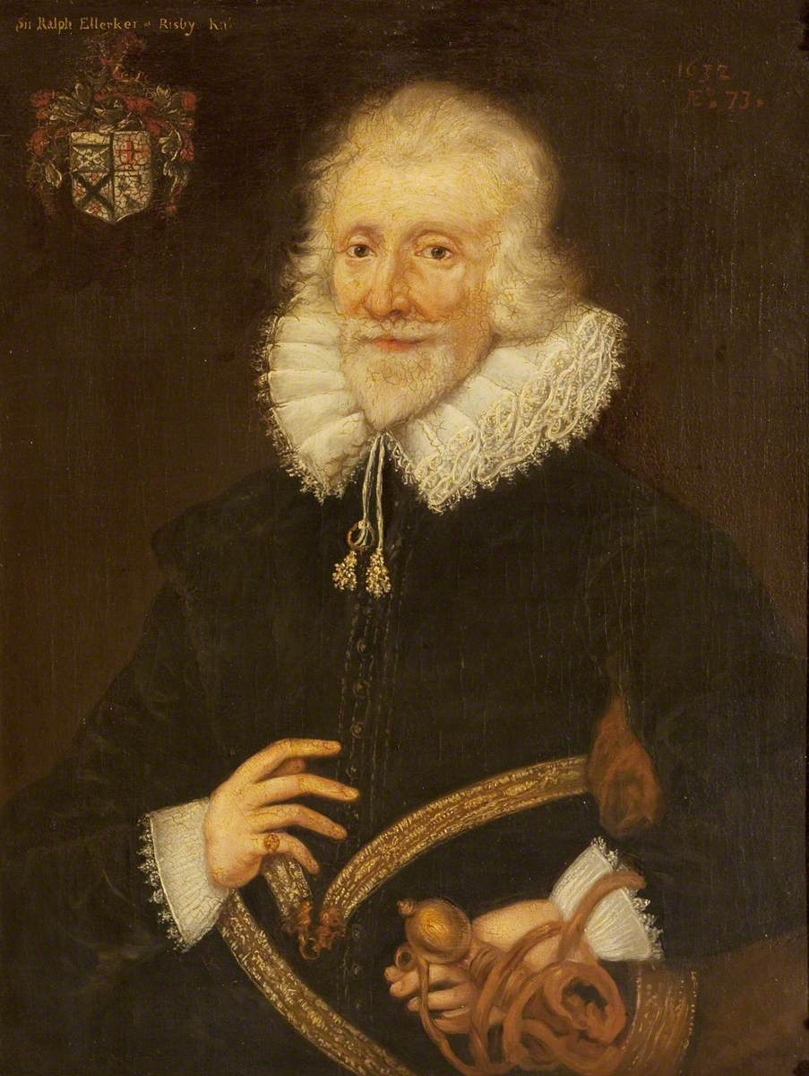 Sir Ralph Ellerker of Risby (b.1558/1559), at the Age of 73