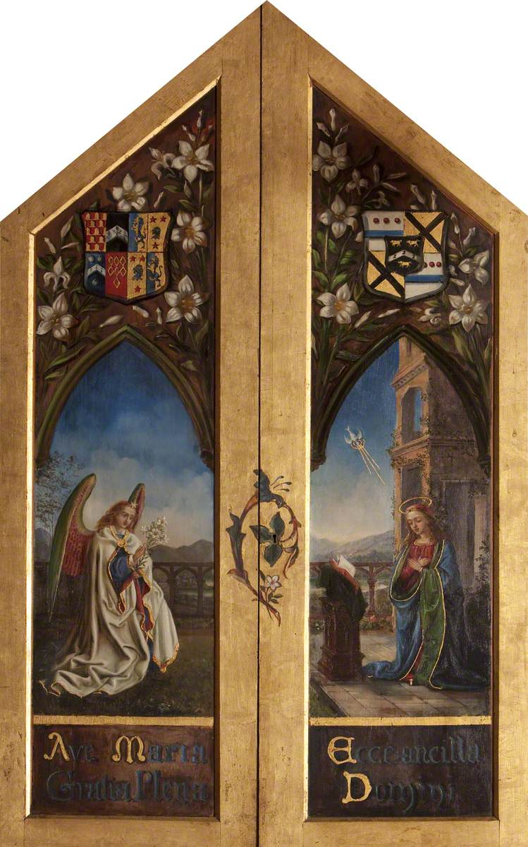 Triptych with the Virgin Annunciate and Archangel Gabriel