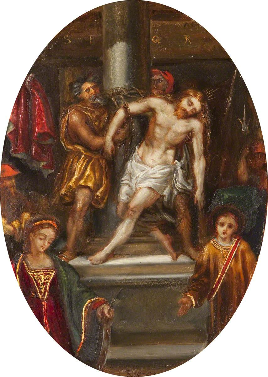 The Flagellation, with Saint Catherine and Saint Stephen