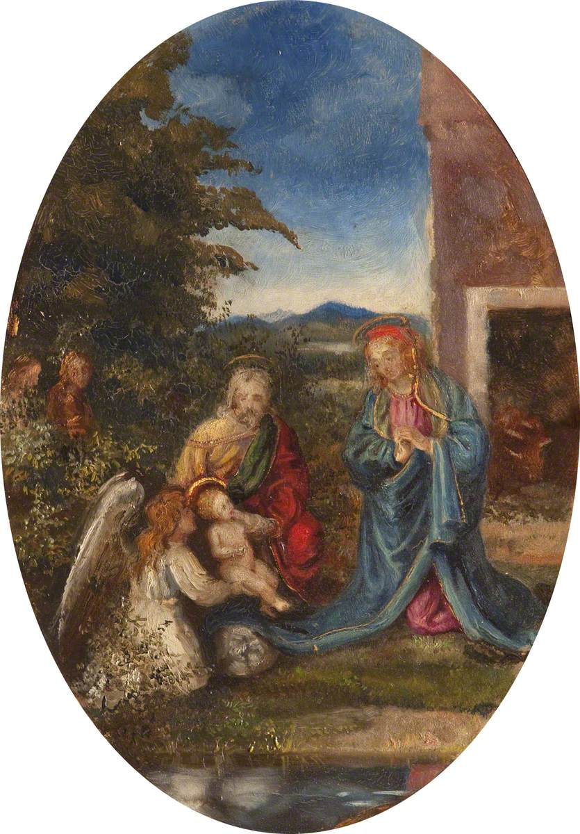 The Holy Family with a Child Angel