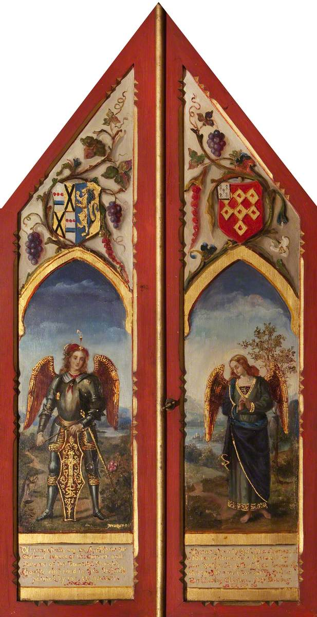 Triptych with the Archangels Michael (after Perugino) and Raphael