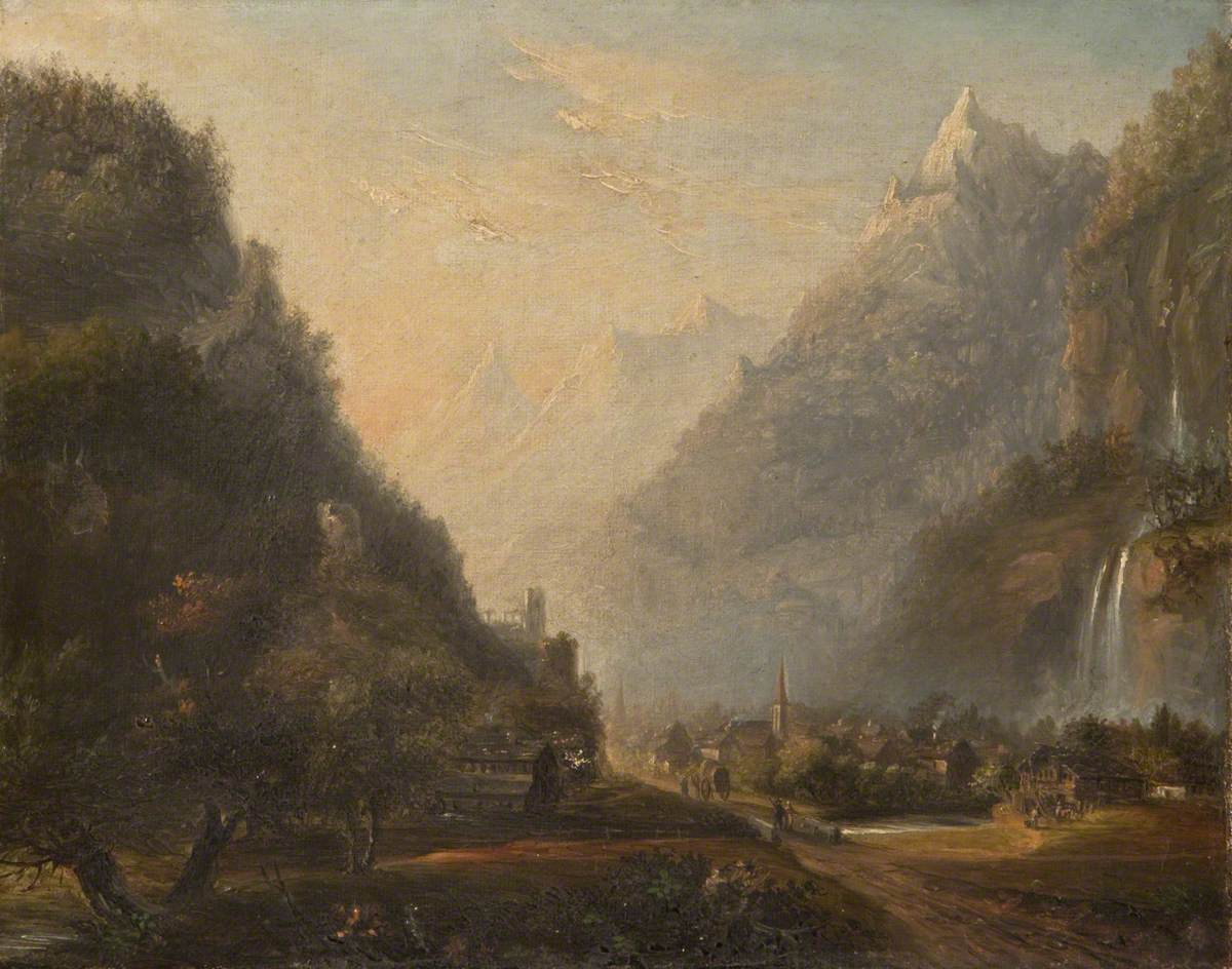 Subalpine Mountain Scenery with a Valley