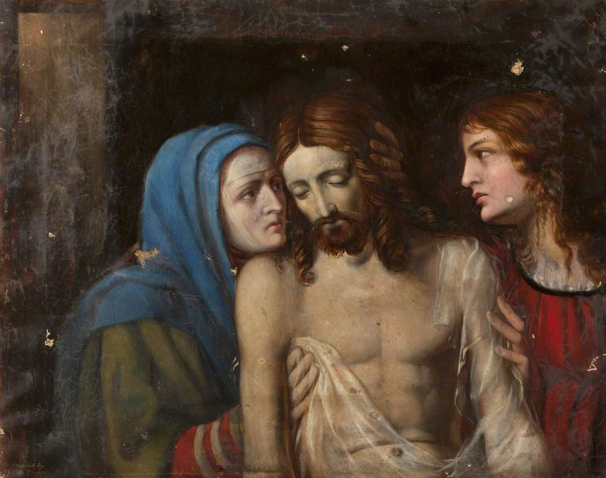 Christ with the Virgin Mary and Saint John the Evangelist