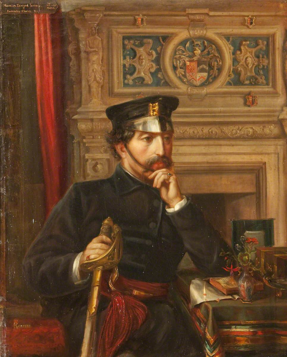 Captain Marmion Edward Ferrers (1813–1884), in the Uniform of the Warwickshire Militia