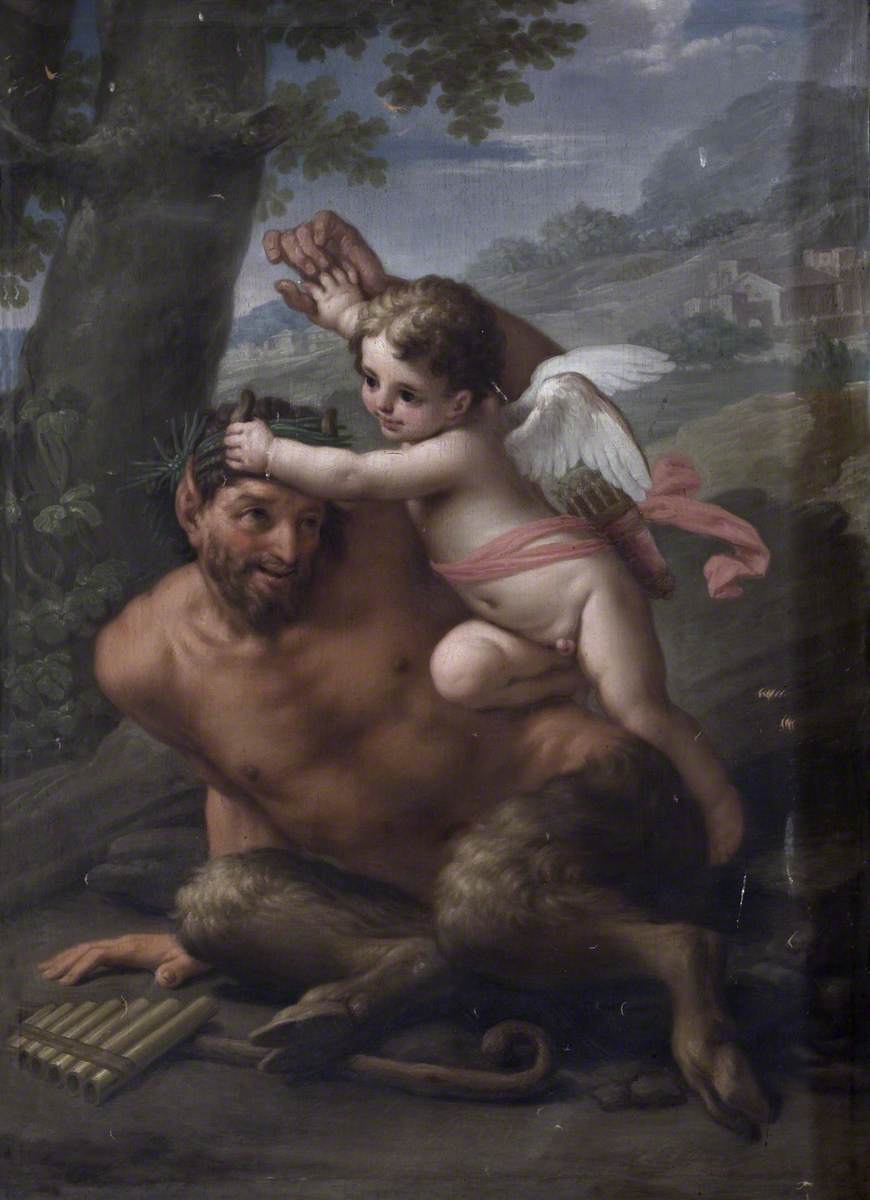 Cupid Attacking a Satyr