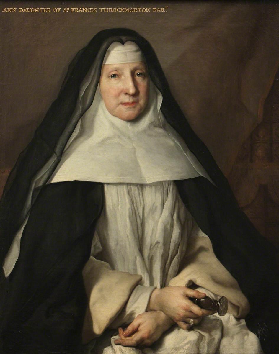 Anne Frances Throckmorton (1664–1734), Prioress of the English Augustinian Convent of Notre-Dame-de-Sion, Paris