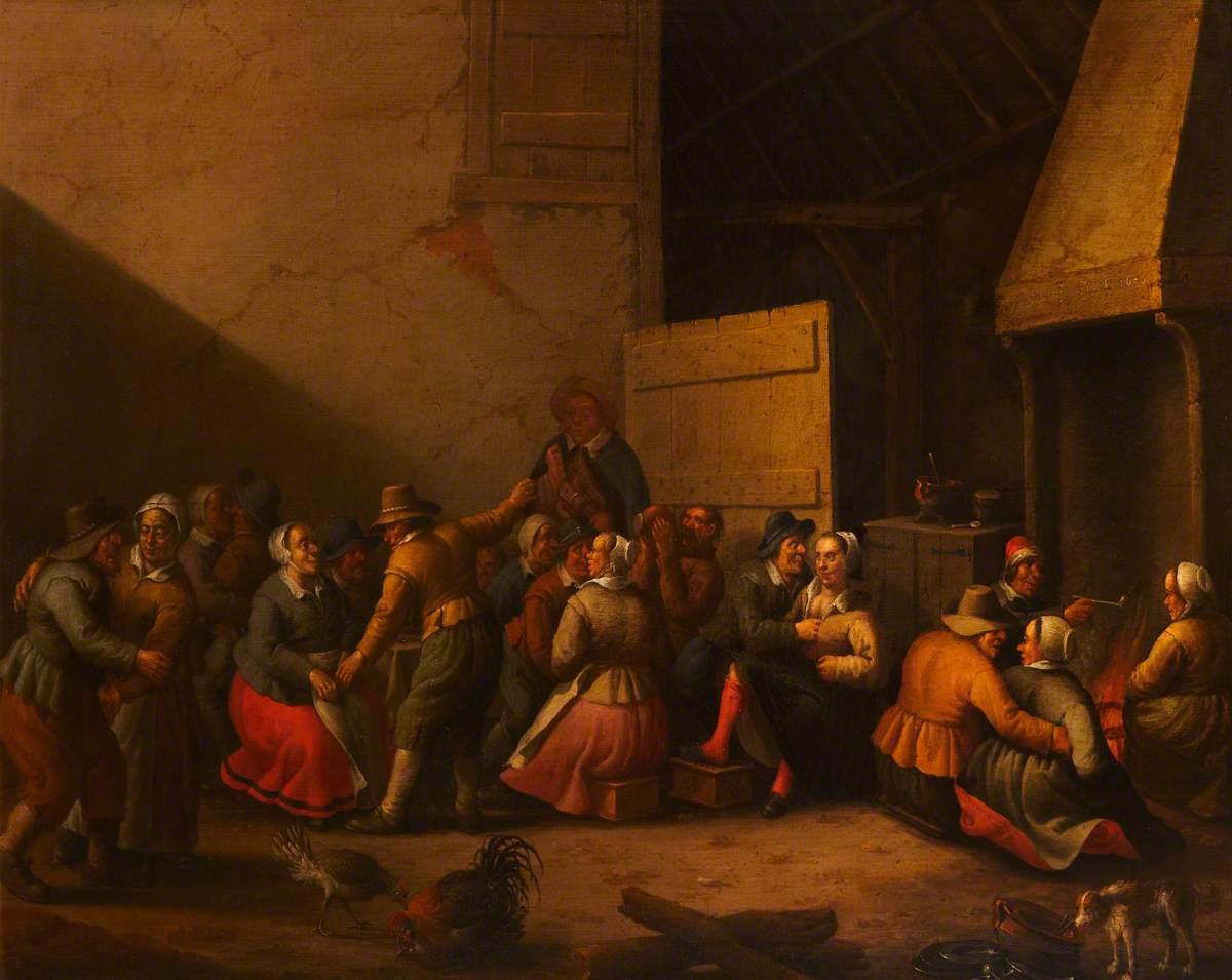 Peasants Carousing in a Barn