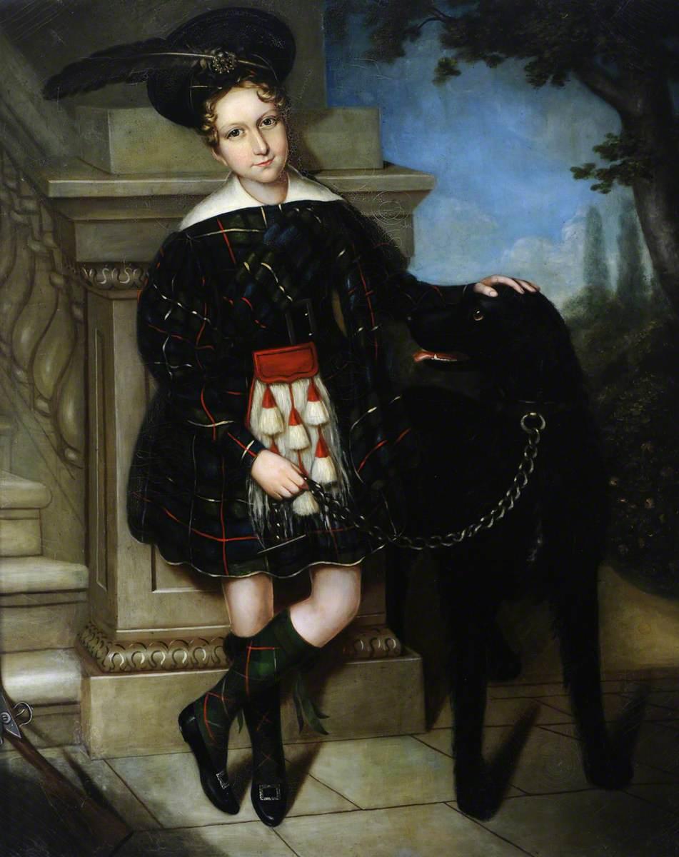 George Ridehalgh (1835–1892), as a Boy in a Belted Plaid*