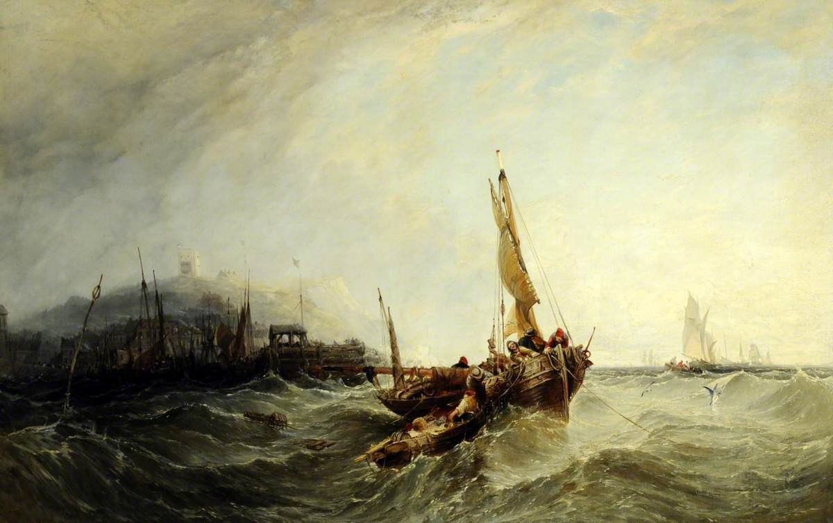 Harbour Scene (Fishing Boats in a Storm)