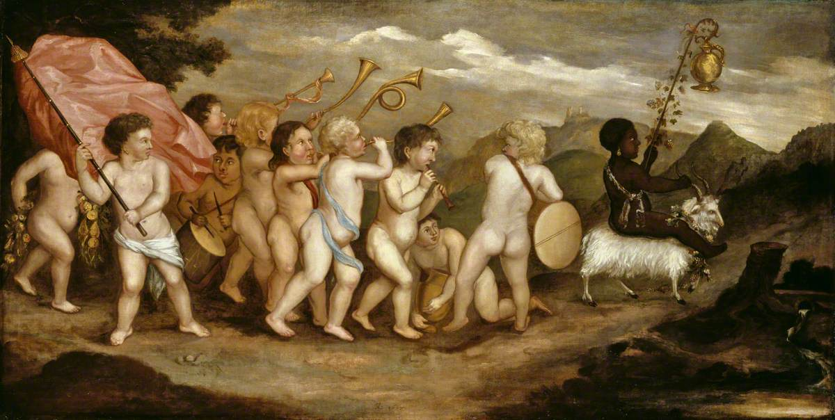 A Bacchic Procession of Putti