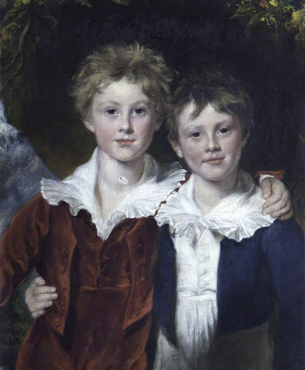 Thomas William Coke (1822–1909), Later 2nd Earl of Leicester, KG, and His Brother the Honourable Edward Keppel Coke (1824–1889)