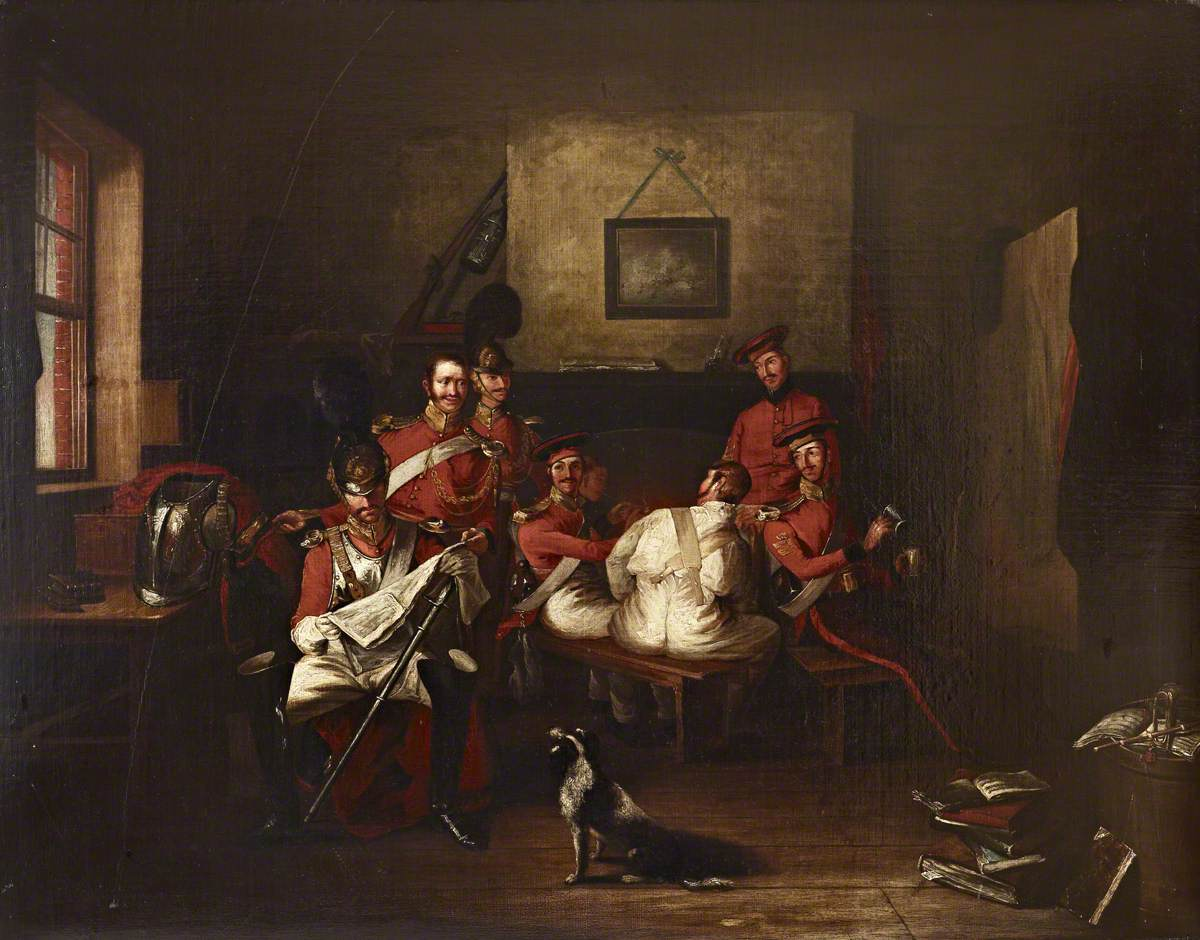 The Life Guards in a Guardroom