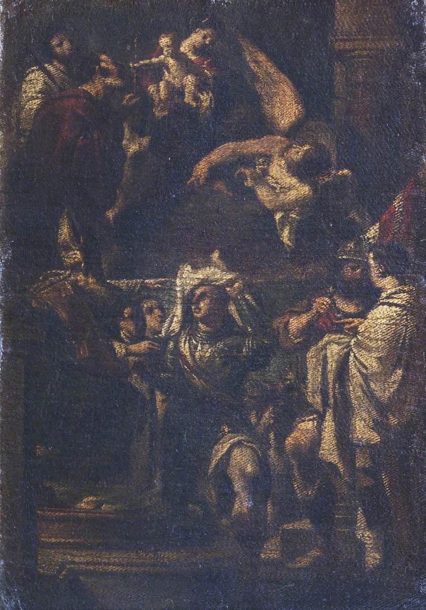 Saint William of Aquitaine Taking the Habit