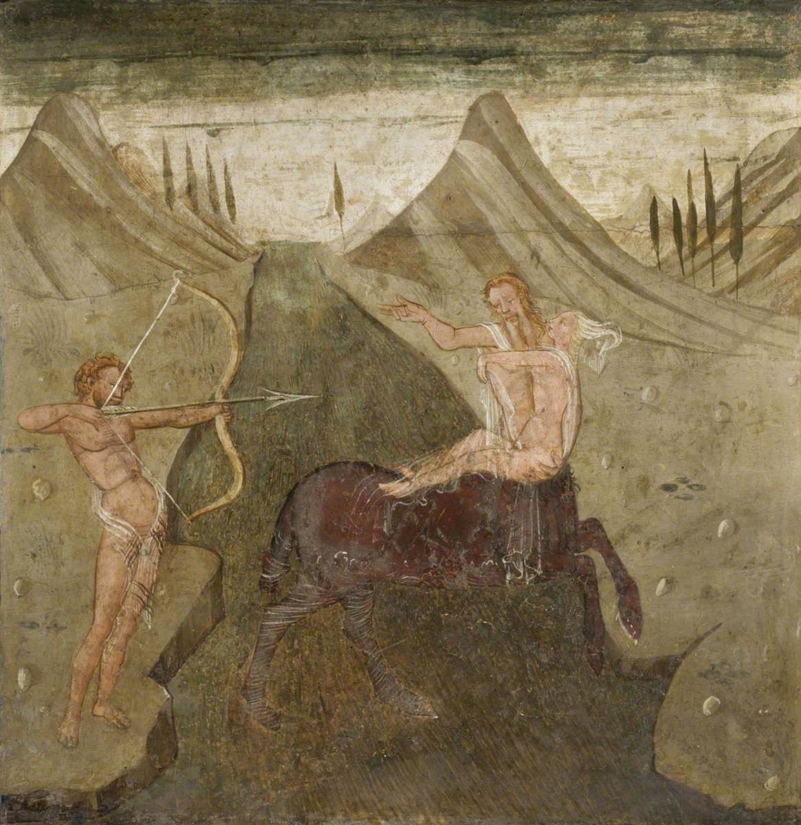 The Rape of Deianeira with Hercules Drawing His Bow at Nessus