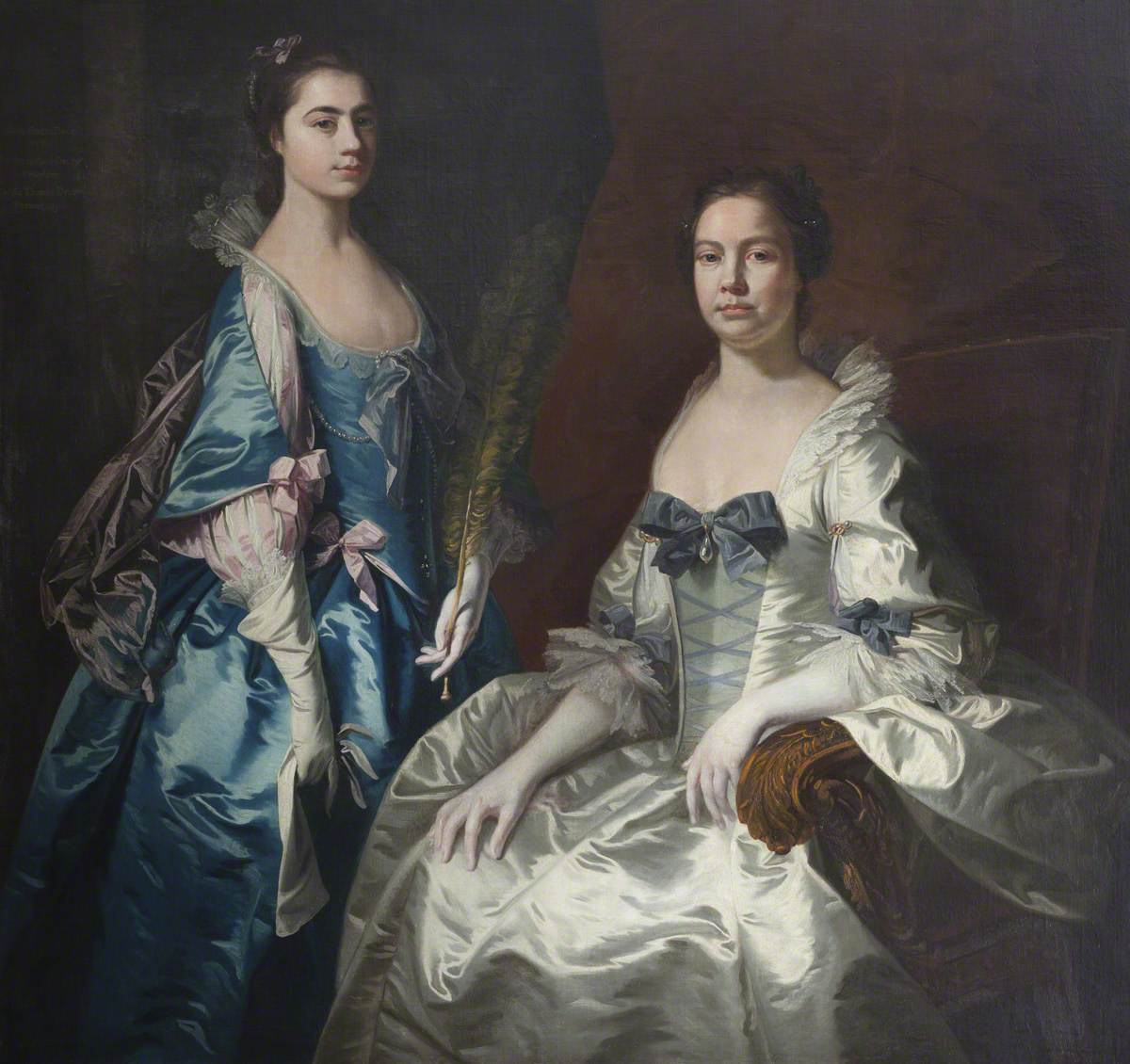 Martha Tyrrell (d.1768), Lady Drury, and Her Daughter, Mary Ann Drury (1740–1769), Later Countess of Buckingham