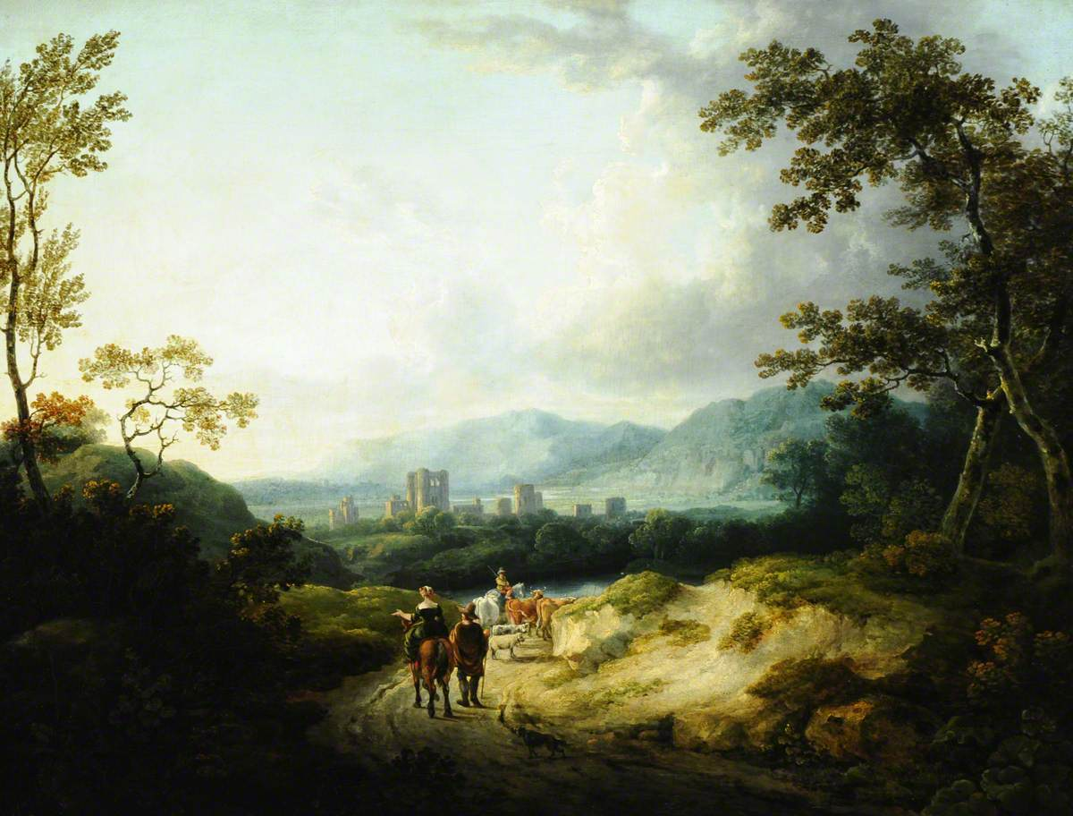 Travellers in a Mountain Landscape