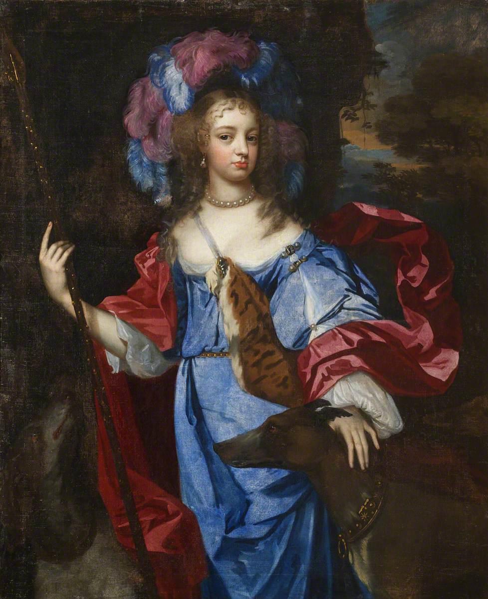 Elizabeth Cornwallis (d.1708), Mrs Edward Allen, as Diana the Huntress