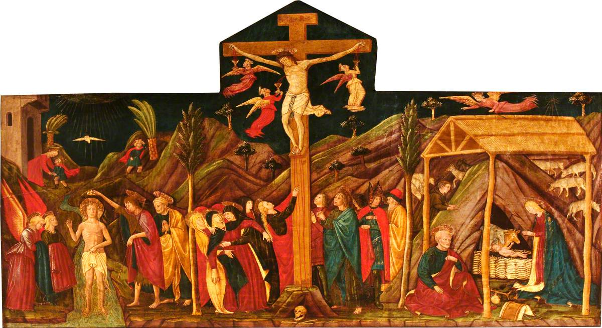 The Clumber Retable (The Baptism of Christ; The Crucifixion; The Nativity)