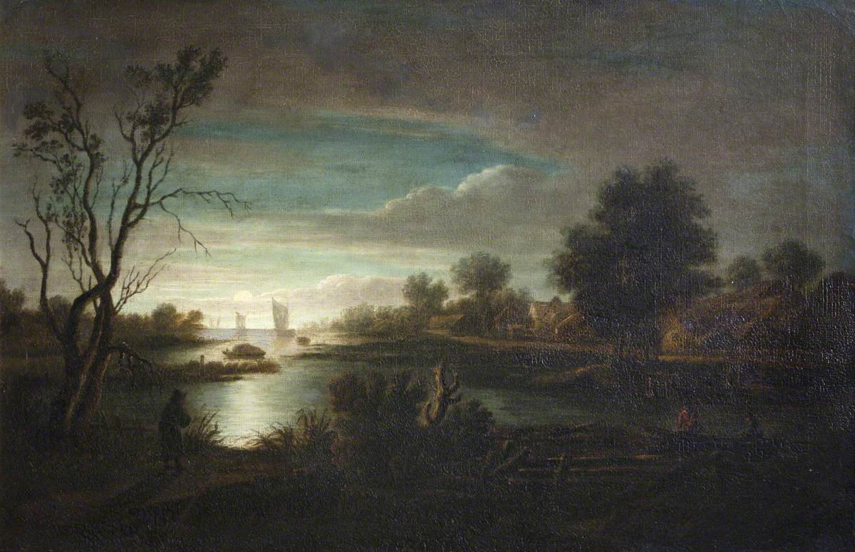 An Estuary by Moonlight