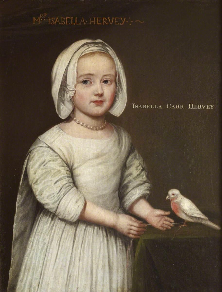 Isabella Hervey (b.1659), Later Mrs Gervase Elwes, as a Child