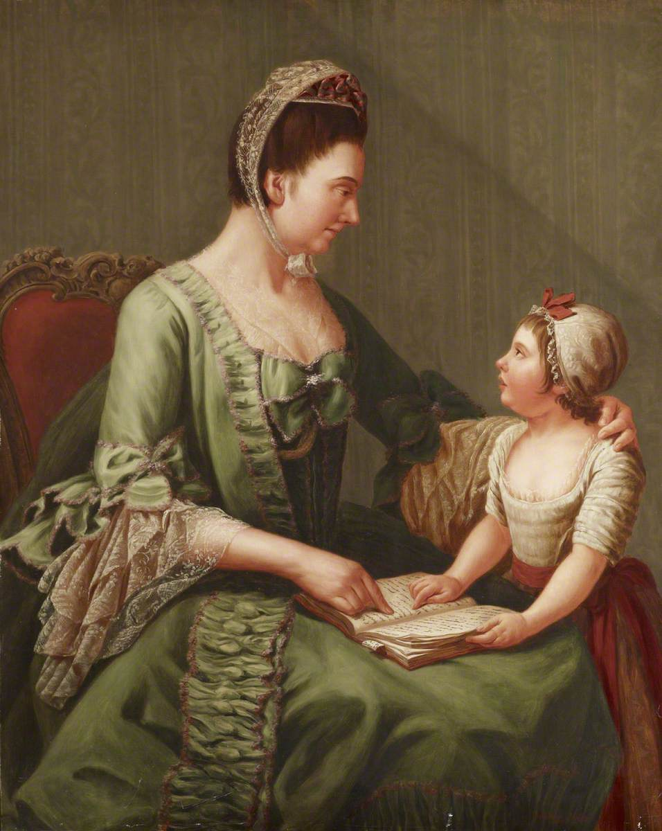 Elizabeth Davers (1730–1800), Countess of Bristol, and Her Daughter Lady Louisa Theodosia Hervey (1770–1821), Later Countess of Liverpool