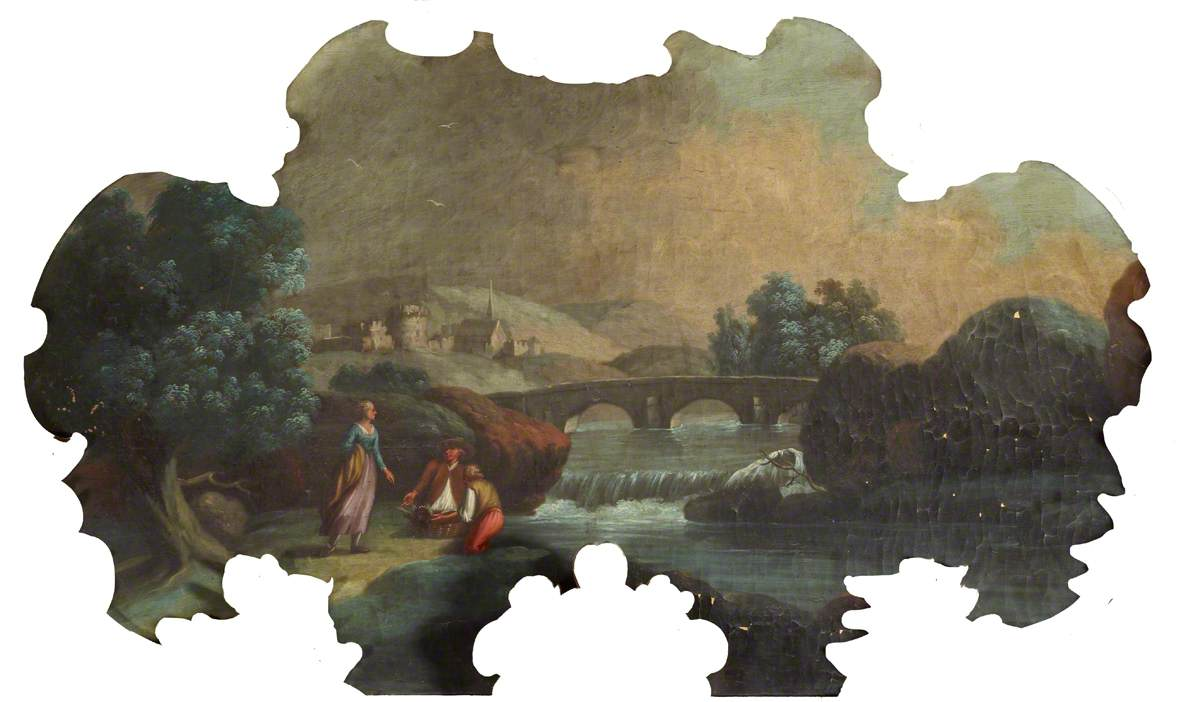 Landscape with Bridge and Figures