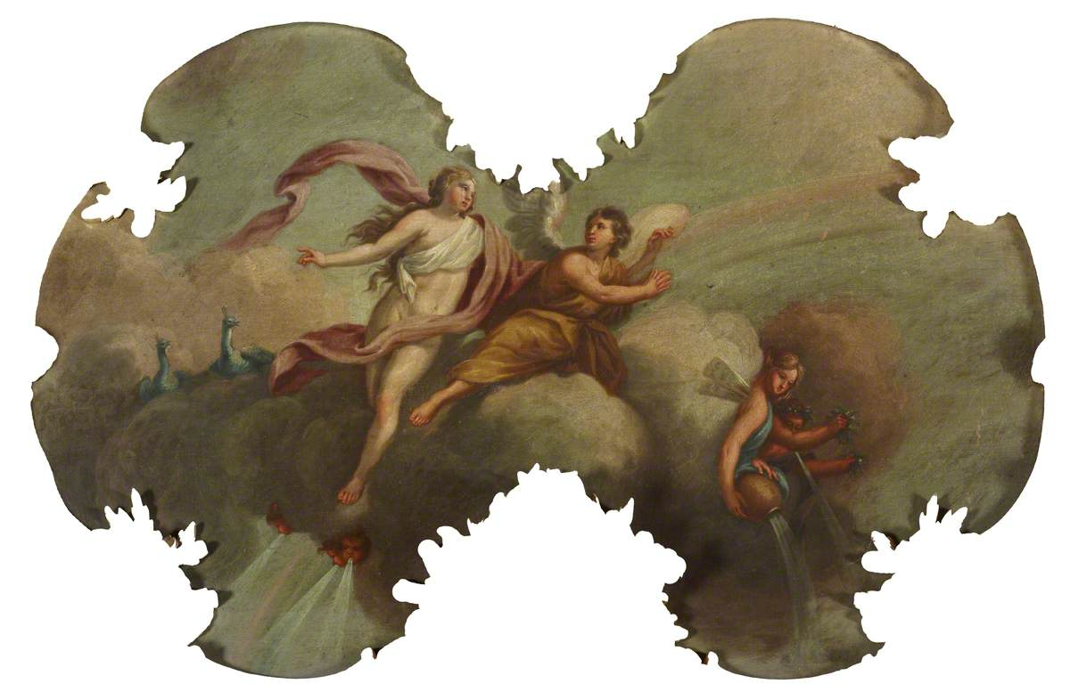 Angelic Figures on Clouds