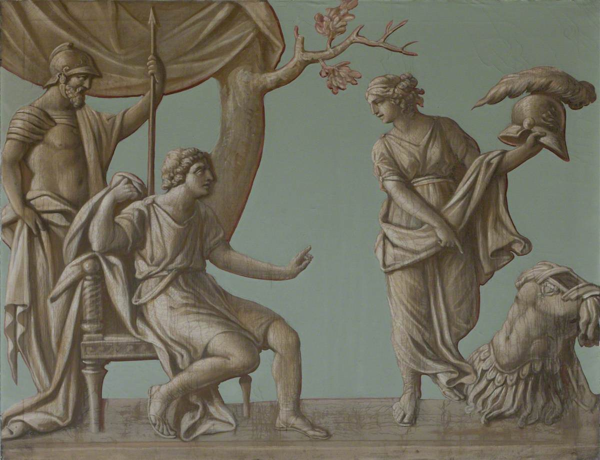 Achilles Receiving New Armour from His Mother, Thetis, which Hephaestus (Vulcan) Had Made at Her Entreaty