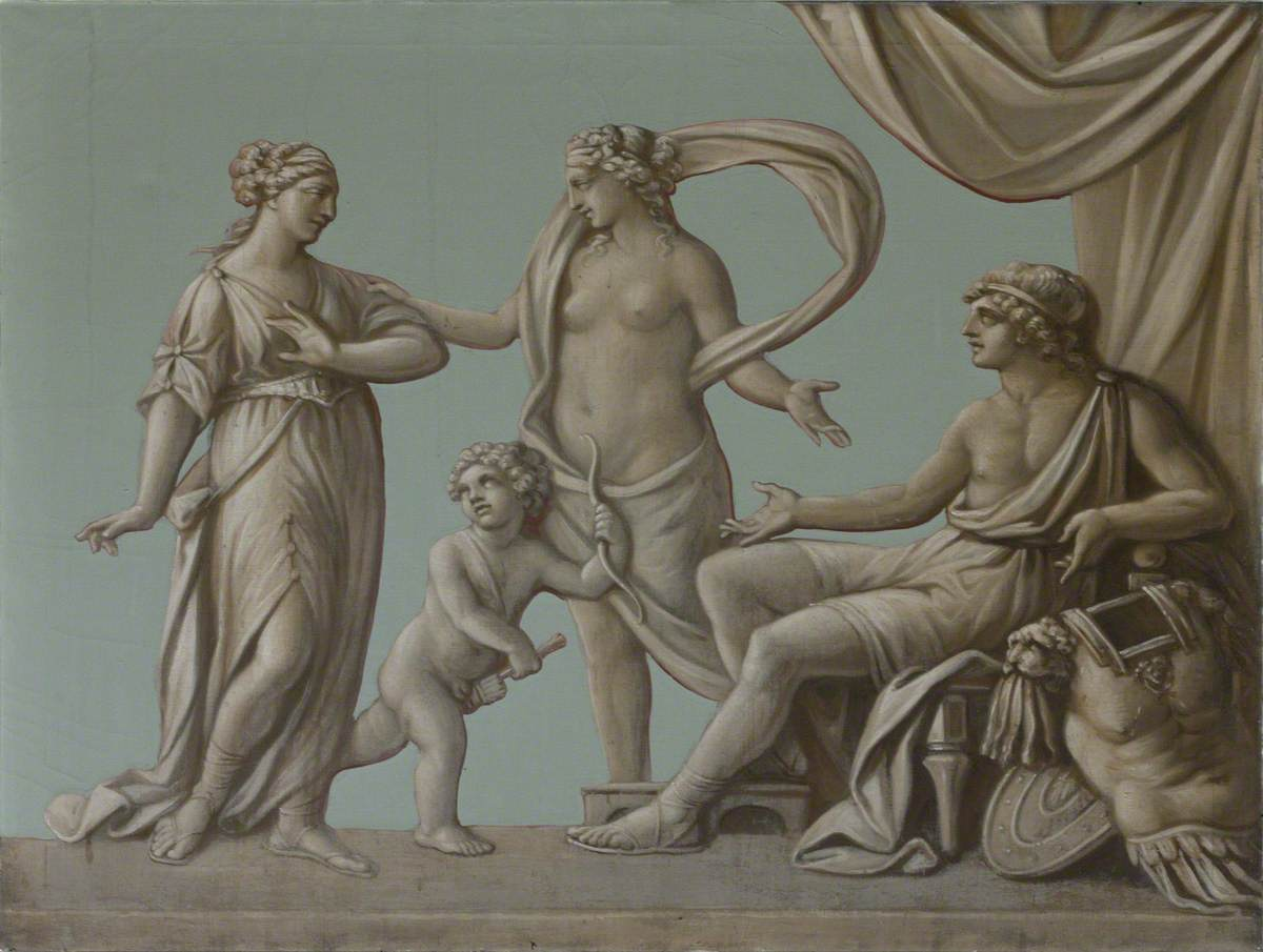 Helen Reproaching Paris for His Retreat from Menelaus and Being Silenced by Aphrodite (Venus)