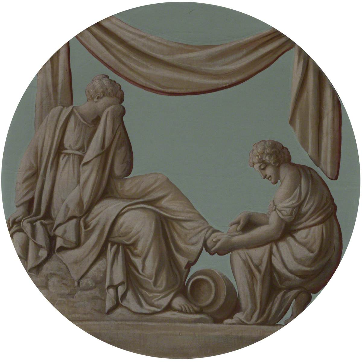 A (Grecian/Roman) Wedding: Washing the Feet (Alcestis Preparing to Die)